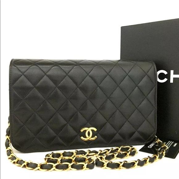 c8083e76c67e CHANEL Bags | Quilted Matelasse Full Flap Cc Logo Bag | Poshmark